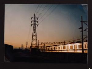 LIFE LOMO 2012/西武立川駅南口・夕焼けを受けて